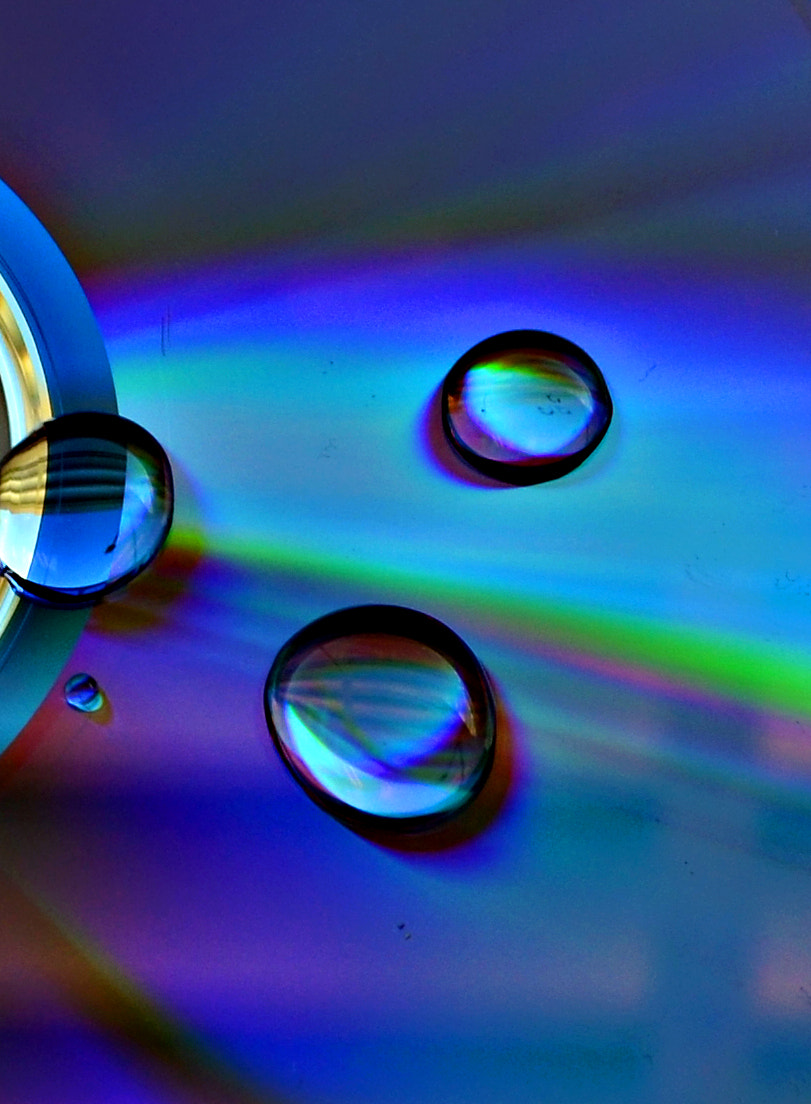 Photograph Waterdrops First by Sharon Monett on 500px