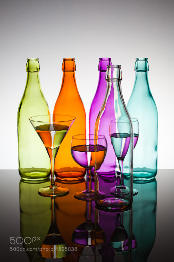 Photograph Bottles & Glasses by François Dorothé on 500px