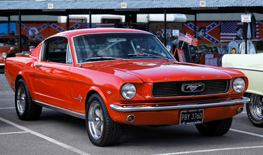 Ford Mustang at Brooklands