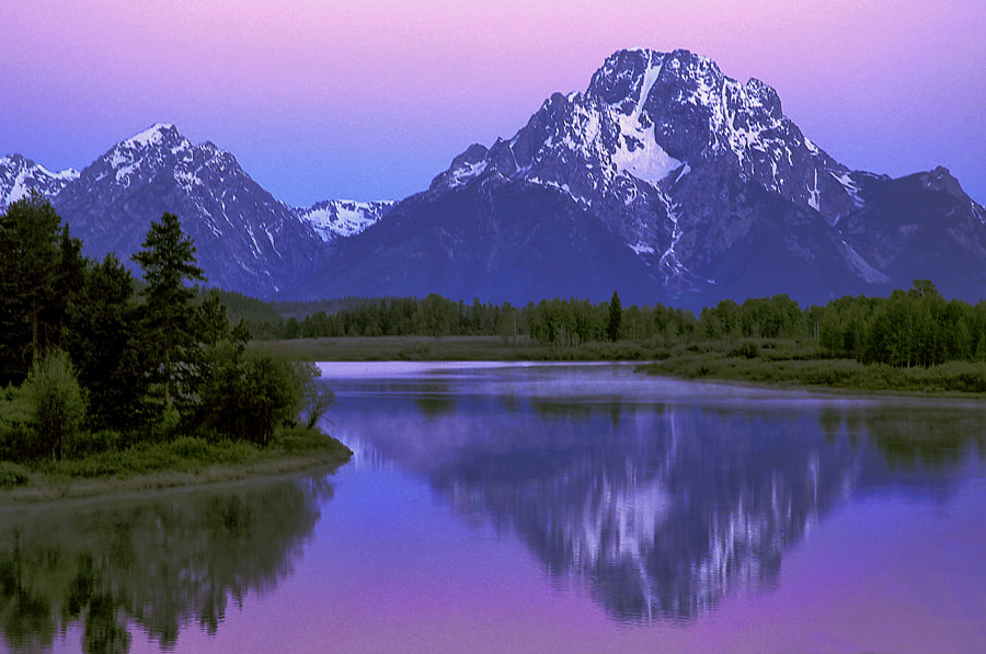 Mount Moran is part of the Grand Teton range. The image was taken pre dawn.