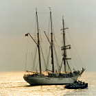 This tall ship was designed by the Antarctic explorer Adrien de Gerlache (1866-1934) as a training ship for the Belgian merchant fleet. She was built in Scotland and launched in 1932.