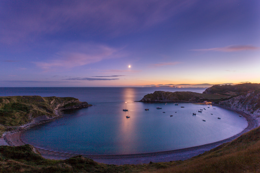 Photograph Dusk at Lulworth Cove by Damian Garcia on 500px