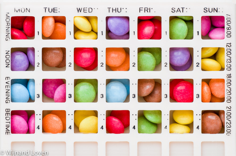 Photograph Pill organizer with colorful pills by Wijnand Loven on 500px