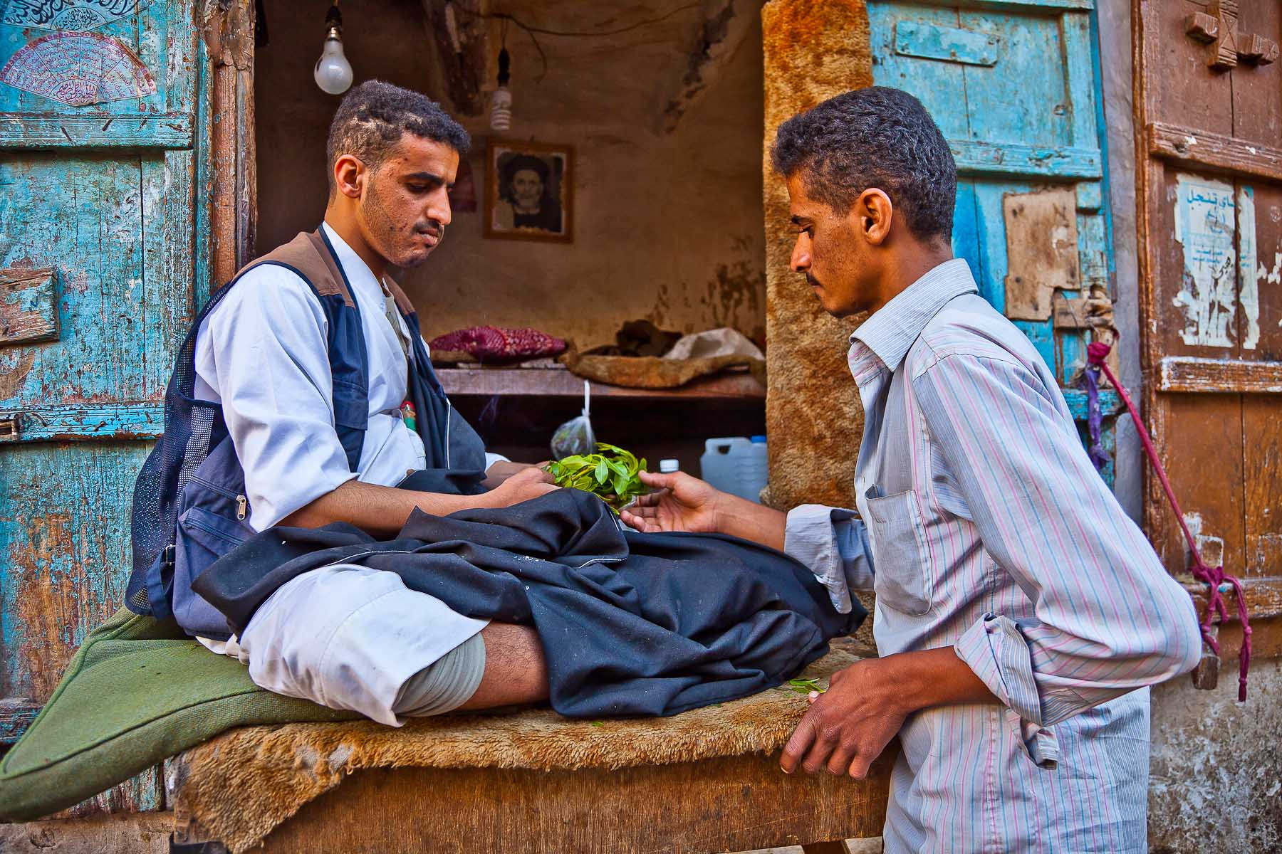 Photograph Seller of qat (Natural drugs) to the market in Sana'a, yemen by Anthony Pappone on 500px