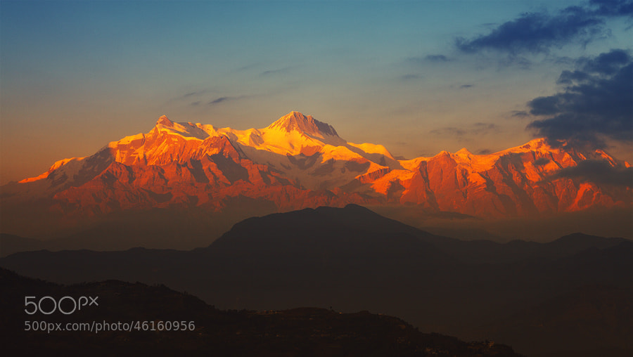Photograph Annapurna at sunset by Sam Dobson on 500px