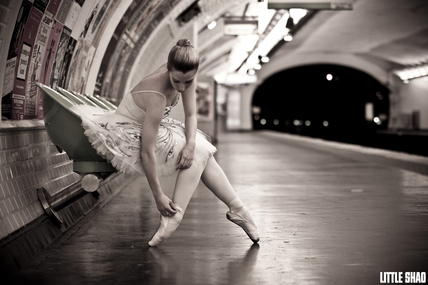 Photograph A Ballet Dancer In Paris Metro by Little Shao on 500px