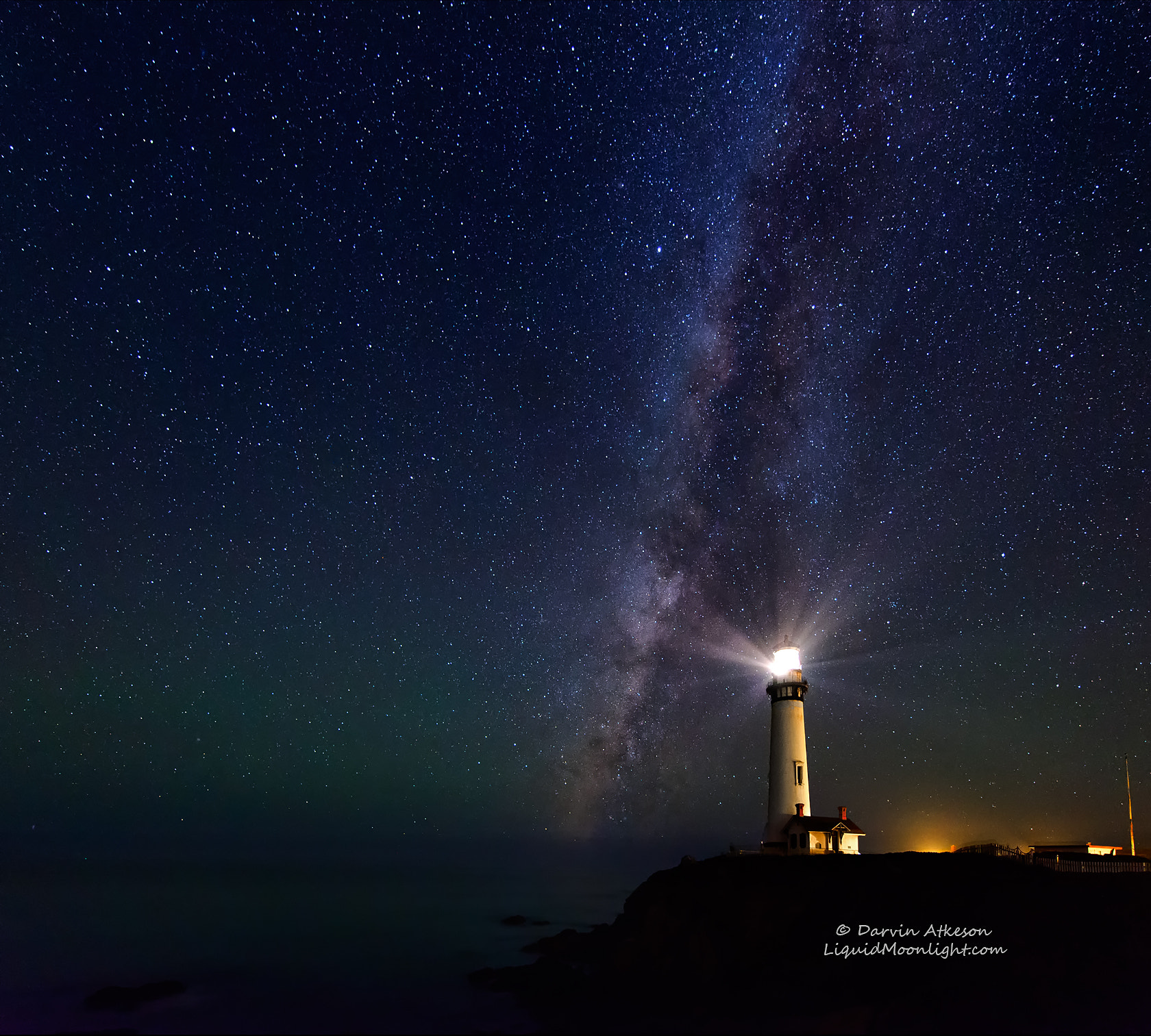 Photograph Lighthouse in an Ocean of Stars by Darvin Atkeson on 500px