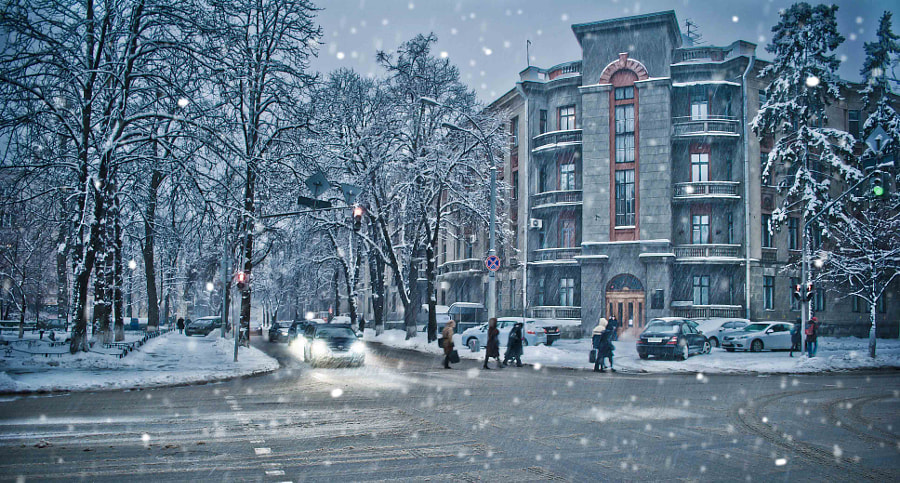 Winter in the Kiev by Inna Petrova on 500px.com