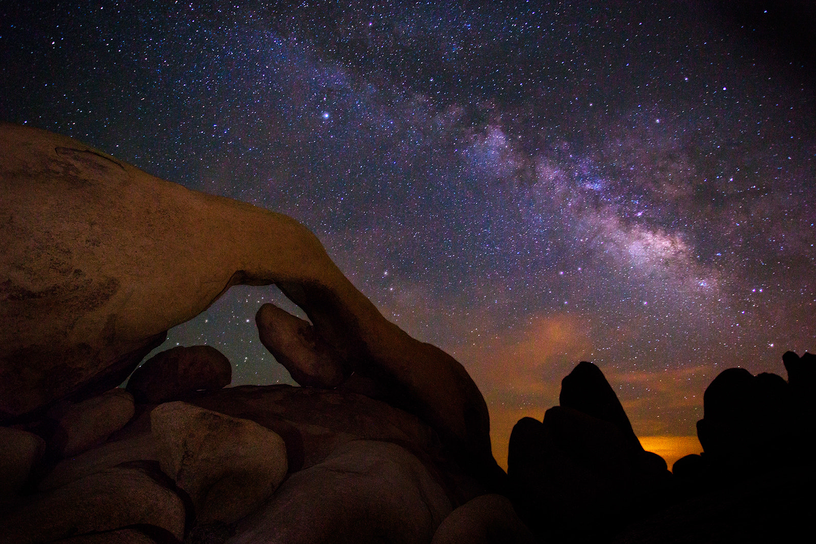 Photograph Arch Rock With Milky way by Sungjin Ahn on 500px