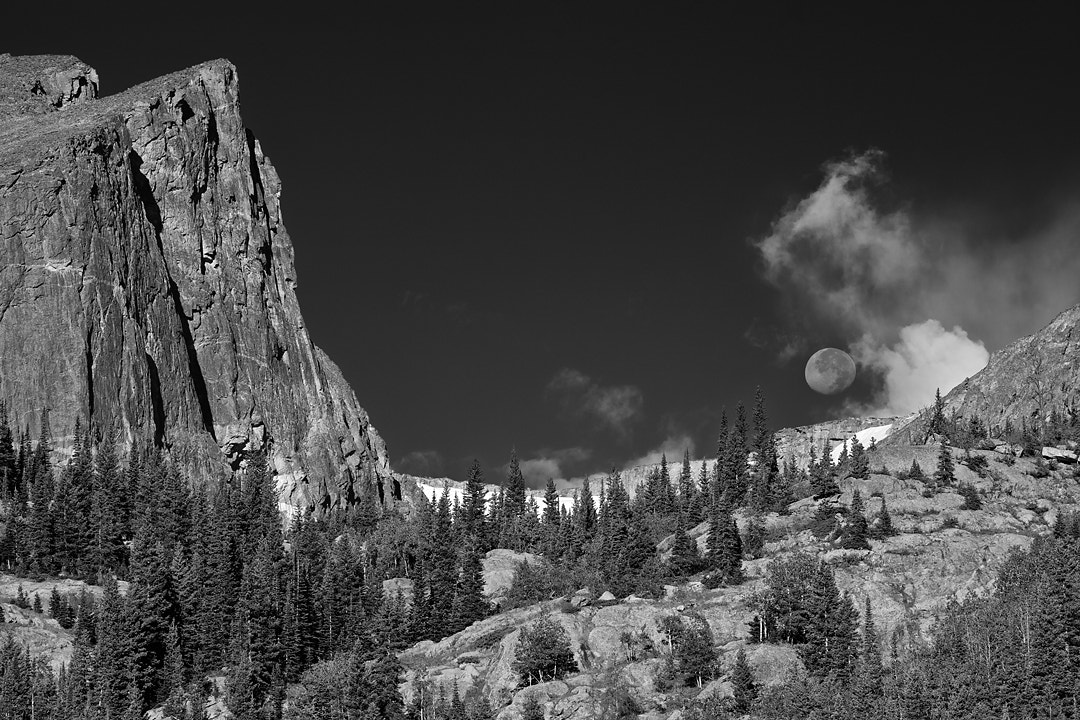 Photograph Moonset on the Continental Divide by Richard Hahn on 500px