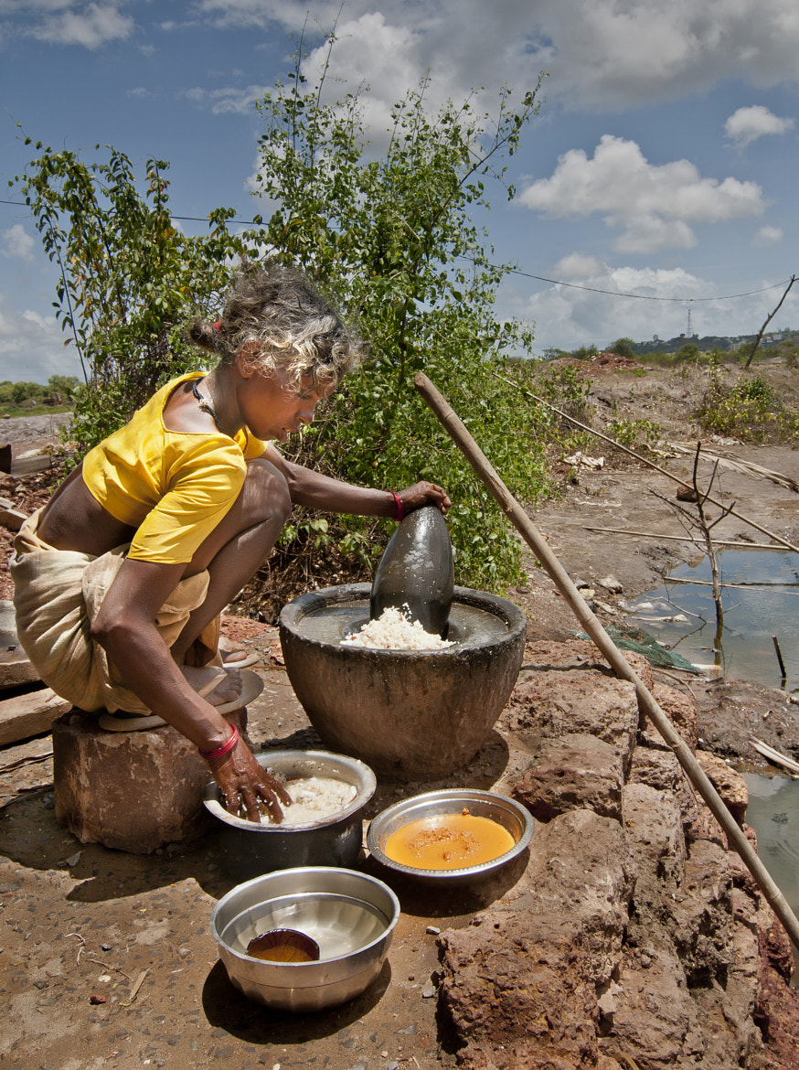 Photograph At the Salt Pans - Getting Food Ready !  by Anoop Negi on 500px
