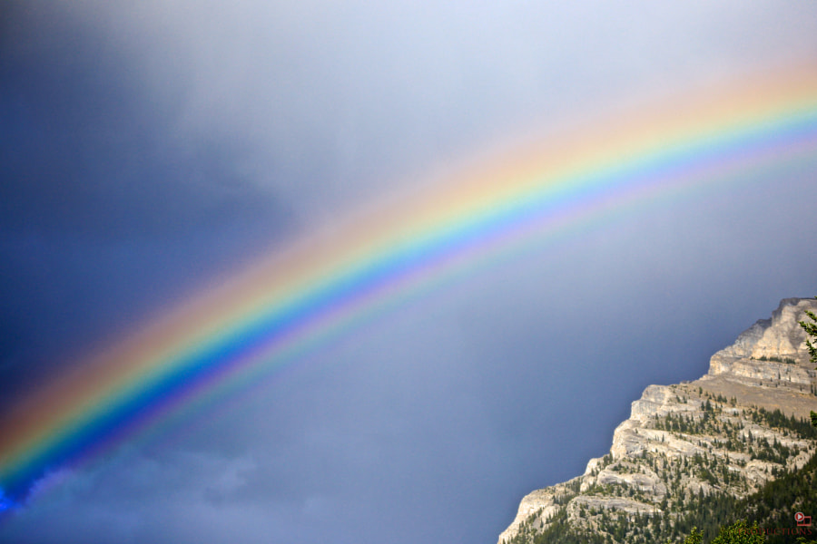 Rainbow in Canmore