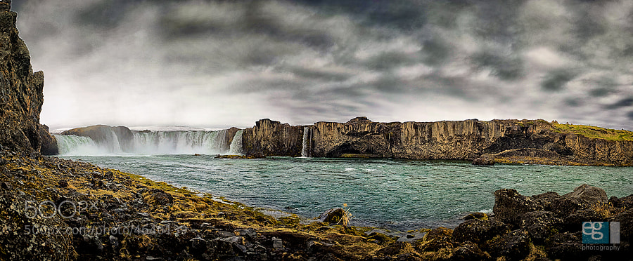 Photograph Goðafoss Lower Pano by Ed Gately on 500px