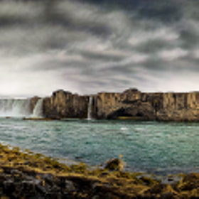 Goðafoss Lower Pano by Ed Gately (edgately)) on 500px.com