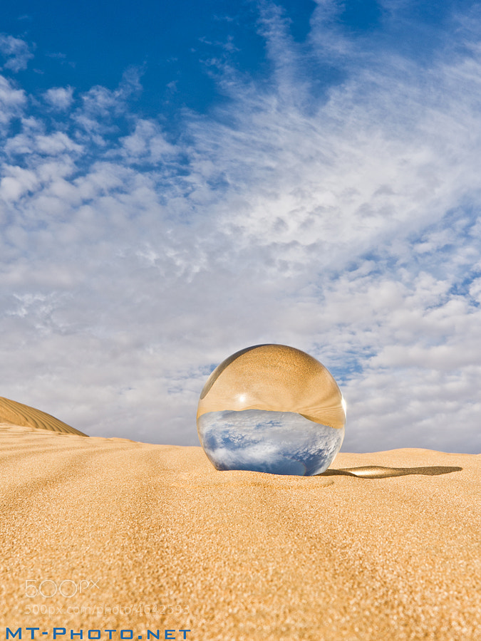 Crystal Ball In Kuwait's Desert.