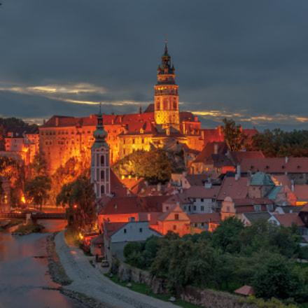Czech Krumlov´s night