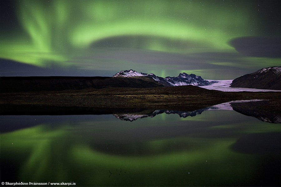 Photograph Aurora Borealis in Skaftafell by Skarpi Thrainsson on 500px
