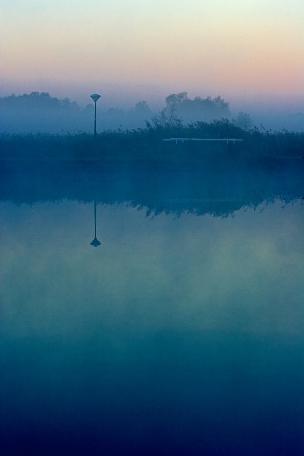A very early morning with fog