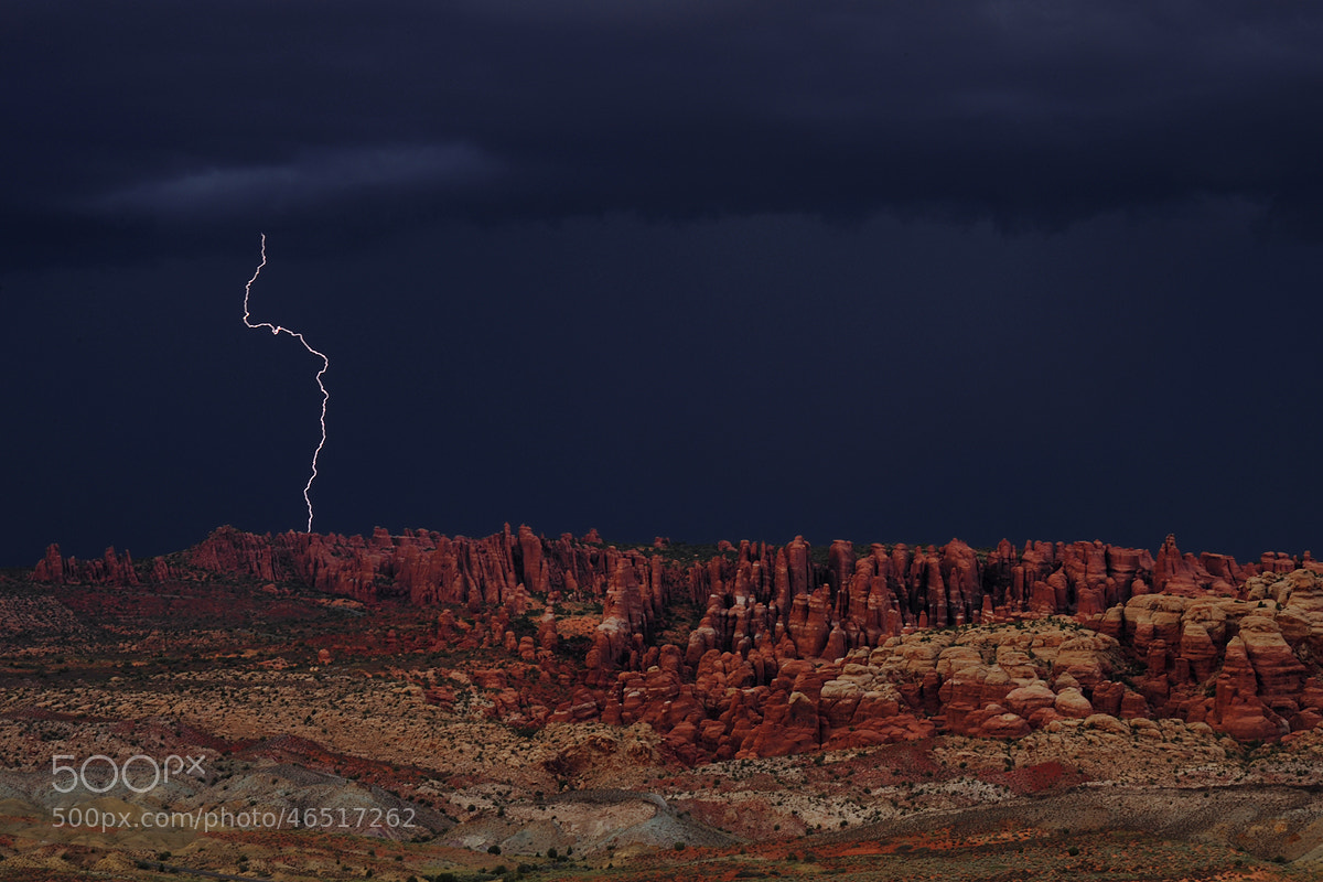 Photograph Arches Lightning by Michael Hubrich on 500px