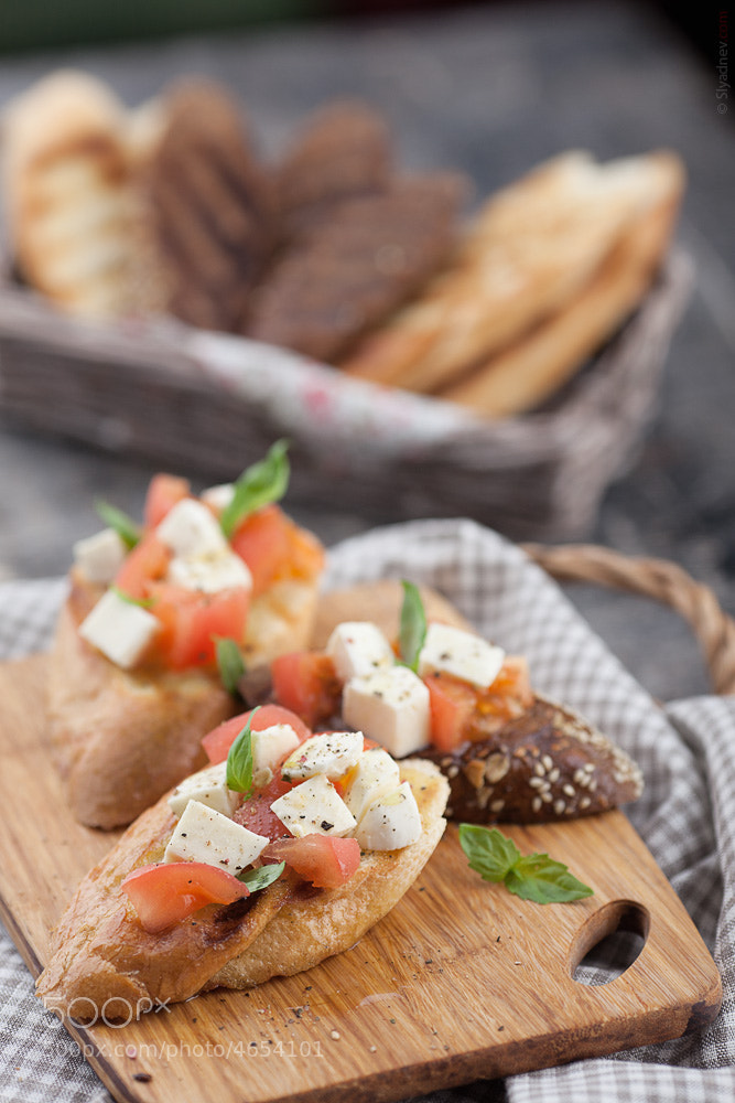 Photograph Caprese bruschetta by Aleksandr Slyadnev on 500px