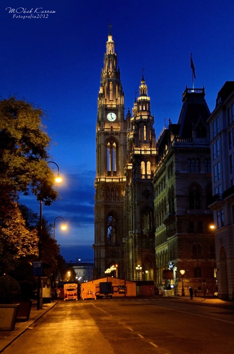Photograph Wien City Hall - Night shot by MOhab Karram on 500px
