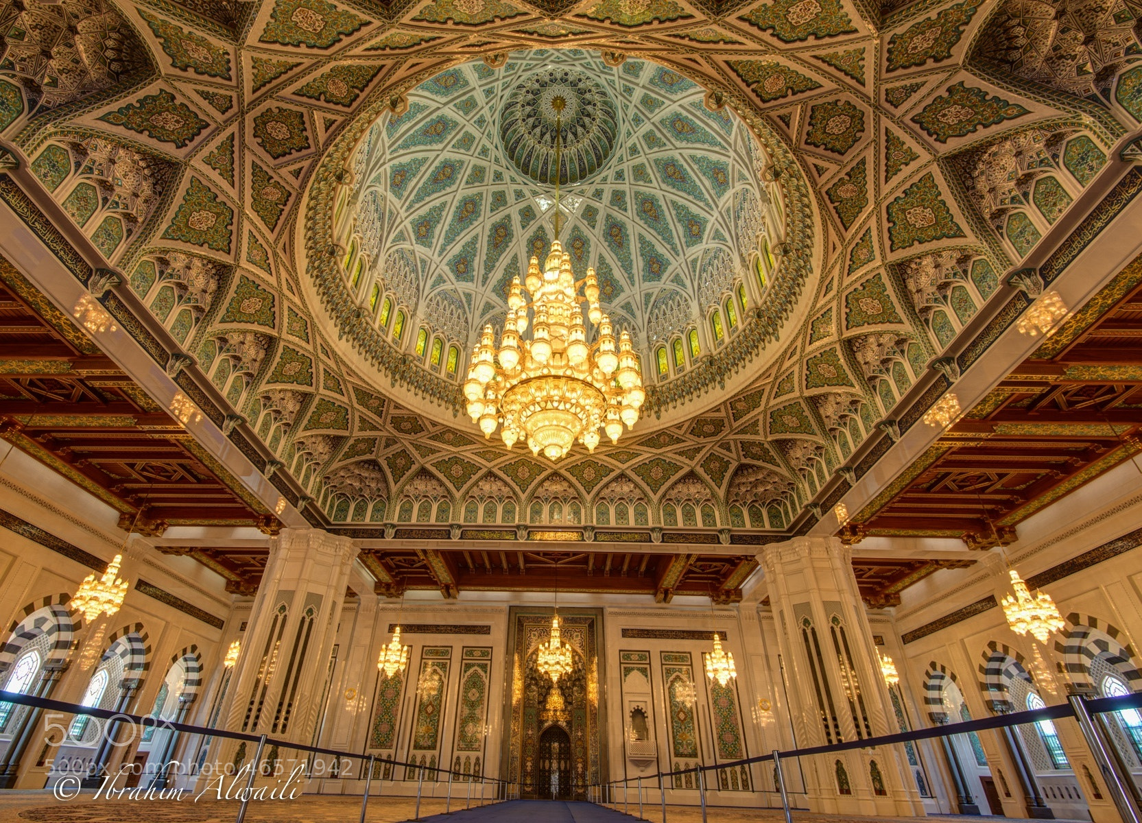 Photograph Pray hall of the Grand mosque - Muscat by Ibrahim AlWaili on 500px