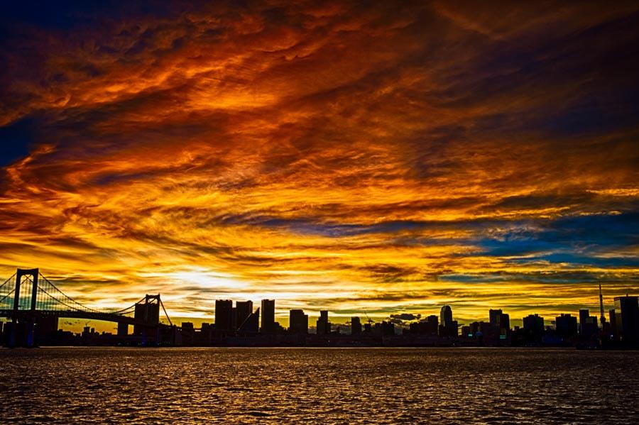Evening glow of Tokyo