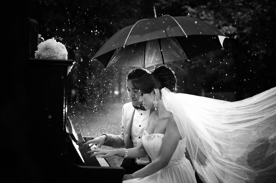 Piano, love and rain by Alex Iordache on 500px