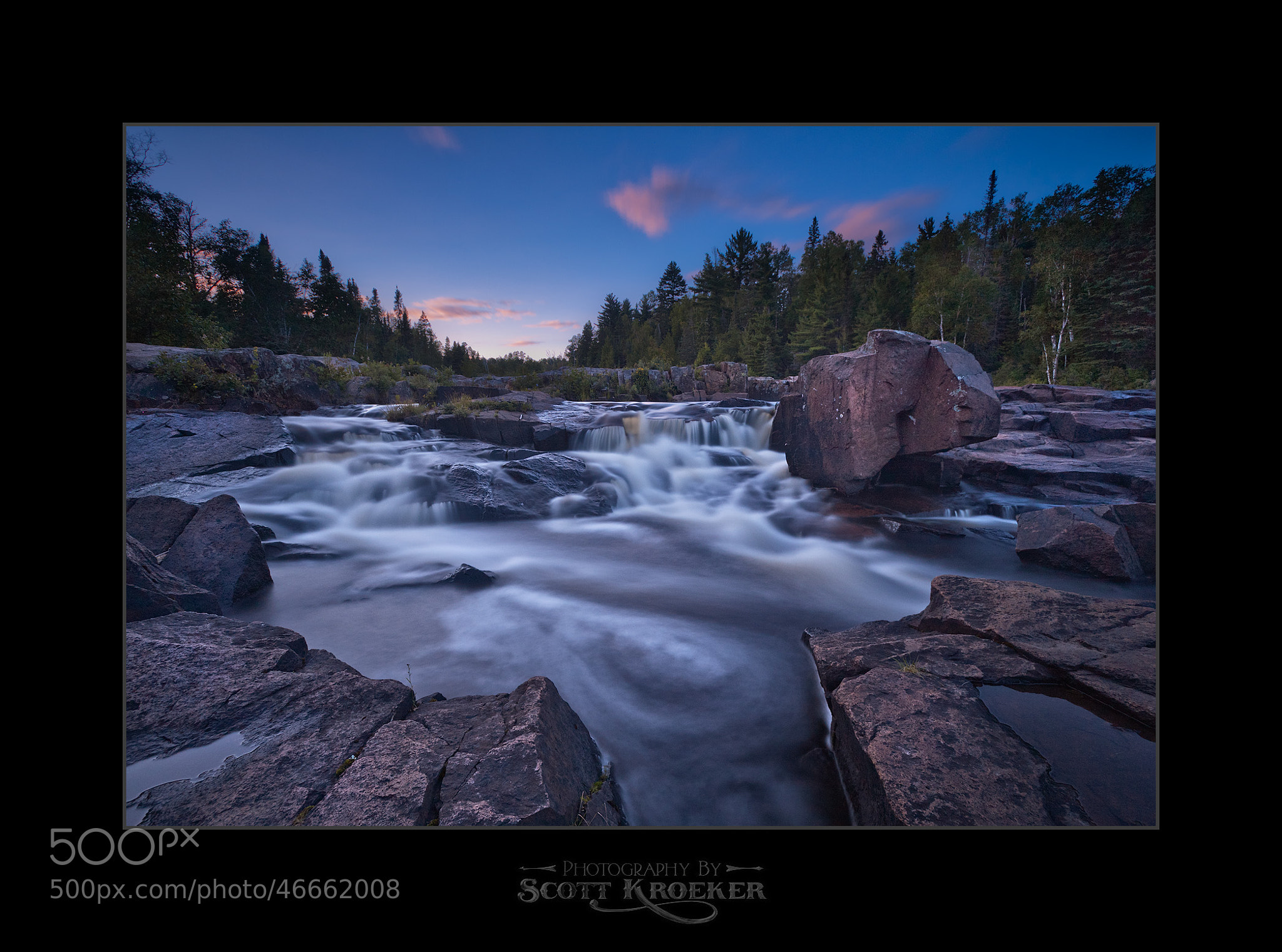 Photograph Thunder Bay Cascades Twilight by Scott Kroeker on 500px