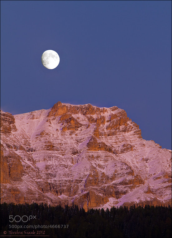Photograph Moon over Fanes Group by Torsten Frank on 500px