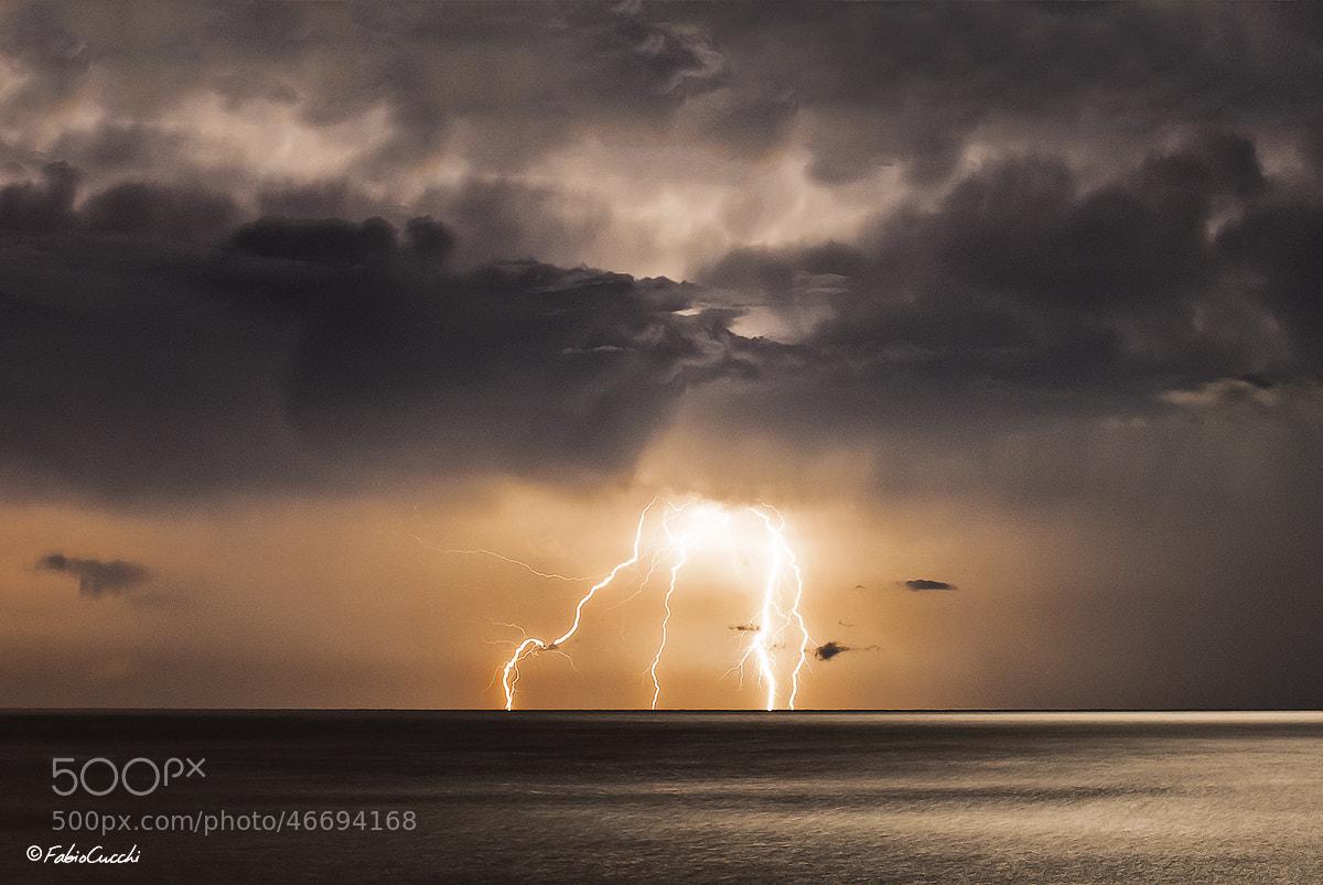 Photograph Lightning in Varigotti by Fabio Cucchi on 500px