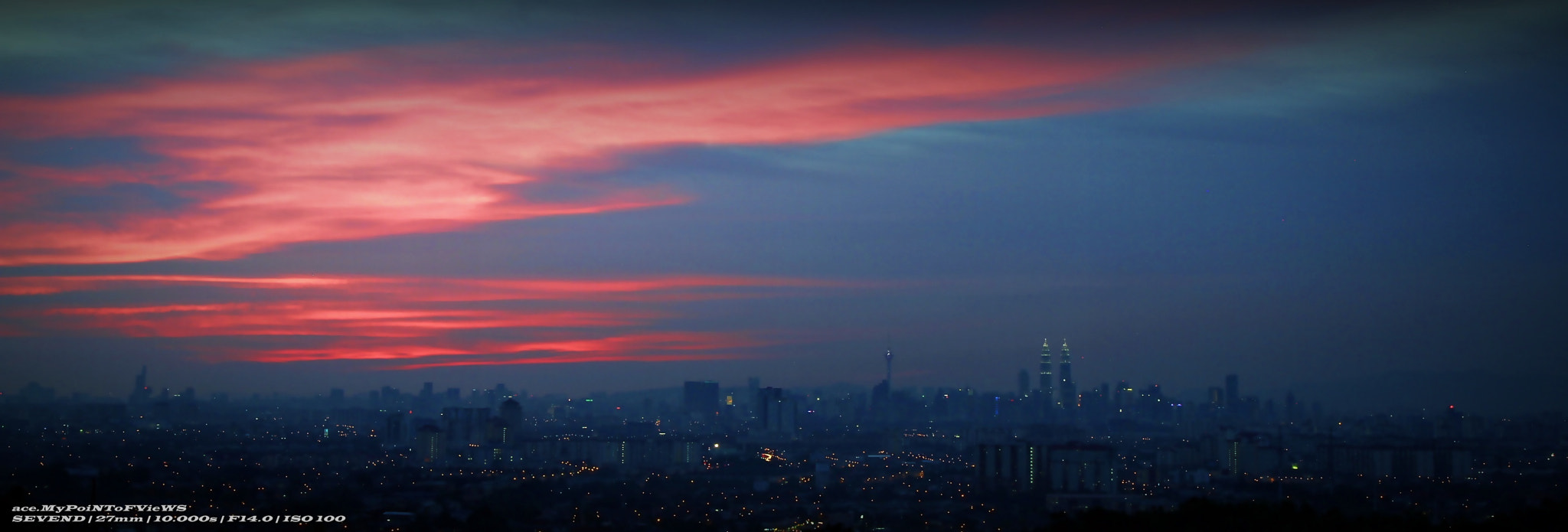 Photograph panoramic sunset over KL by Zaki Ahmad on 500px