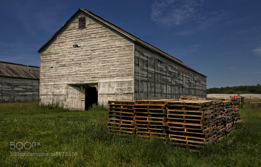 Barn used to store shade grown tobacco