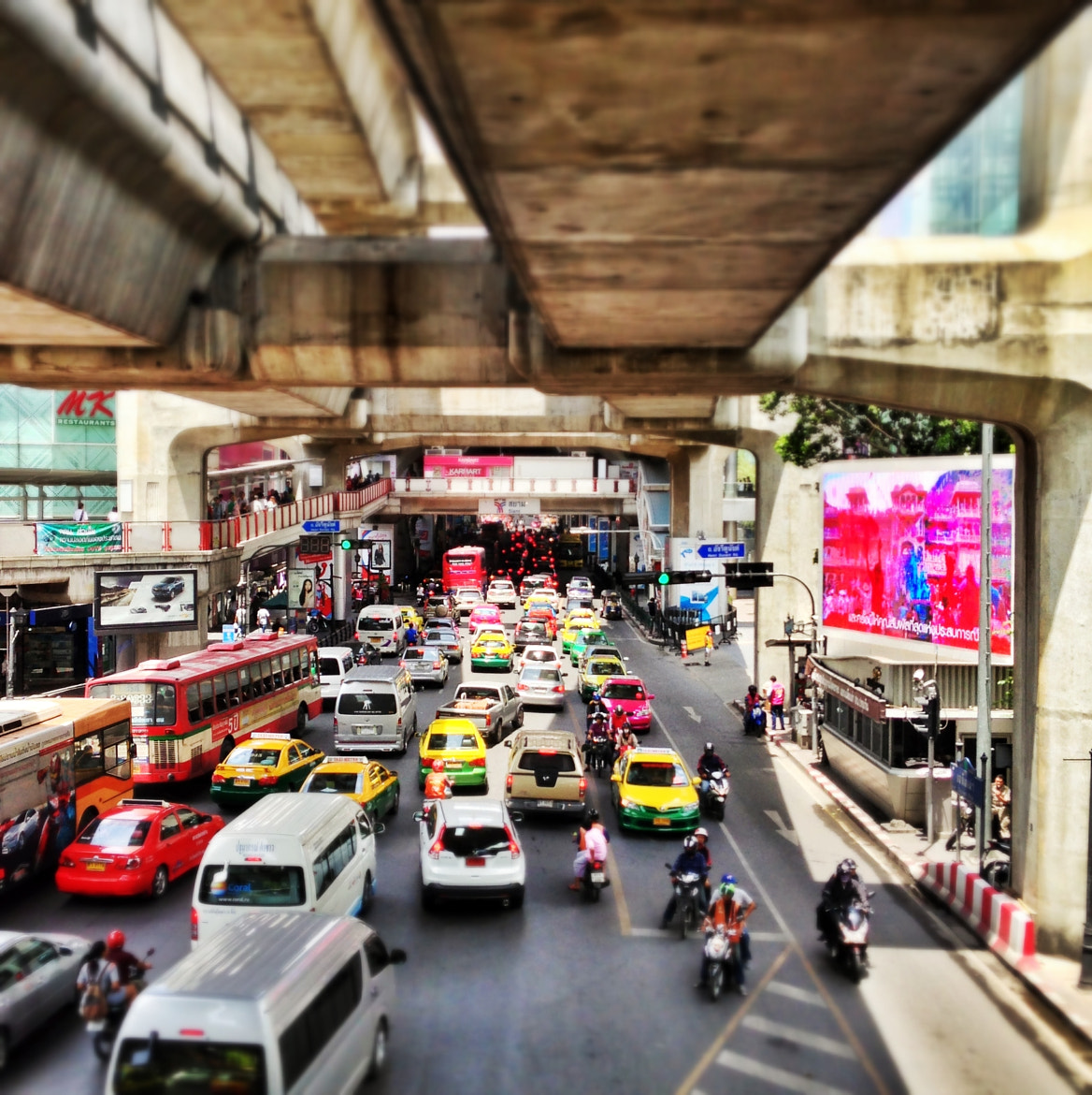 Photograph Colorful Bangkok Traffic by Teelip Lim on 500px