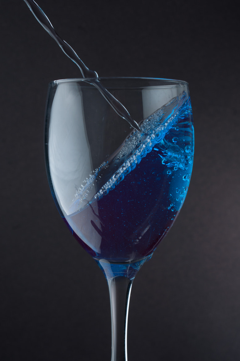 Photograph Wine Glass - Blue by Daniel Ly on 500px