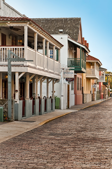 Photograph St Augustine Street, FL by Lynn  Wiezycki on 500px