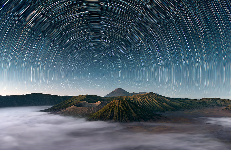 Photograph Mt Bromo Under The Stars by Elia Locardi on 500px