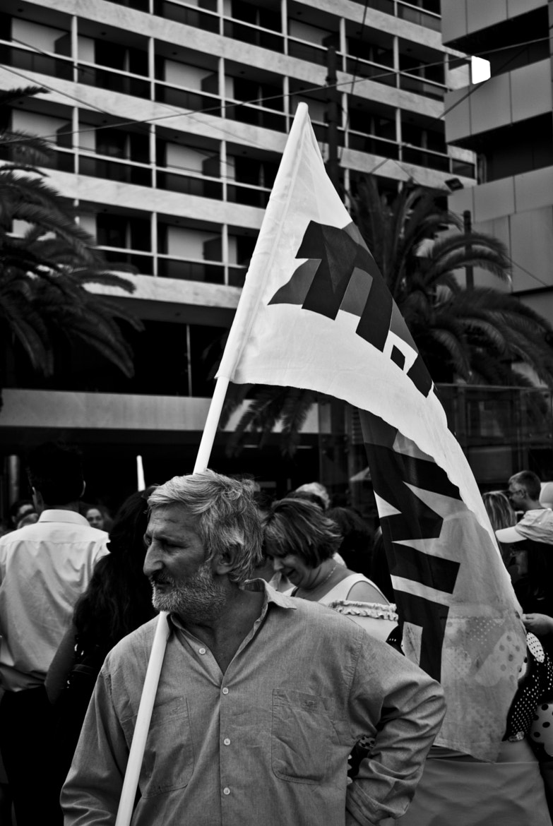 Photograph Greek protester by Andreas Kontokanis on 500px