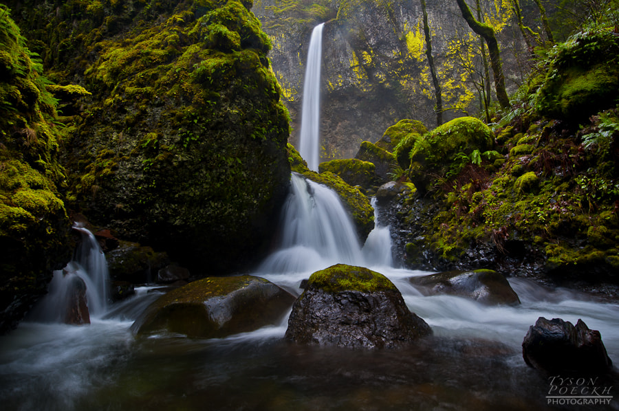 Photograph Elowah Falls by Tyson Poeckh on 500px