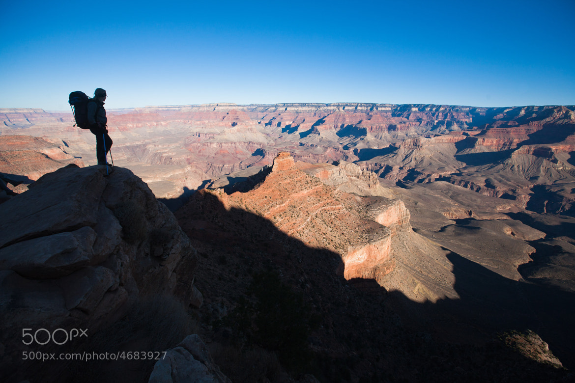 Photograph Hiker, South Kaibab Trail, Grand Canyon by Mark Watson on 500px