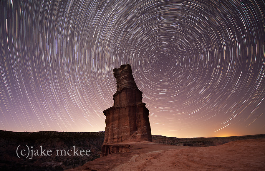 Photograph The Lighthouse Star Trails by Jake  McKee on 500px