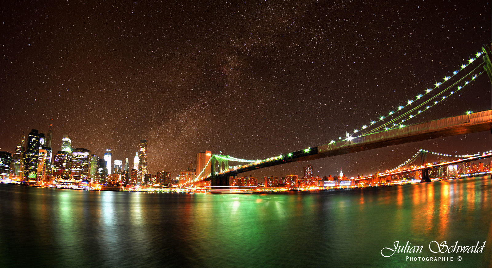 Photograph Milky Way over Manhatten by Julian Schwald on 500px