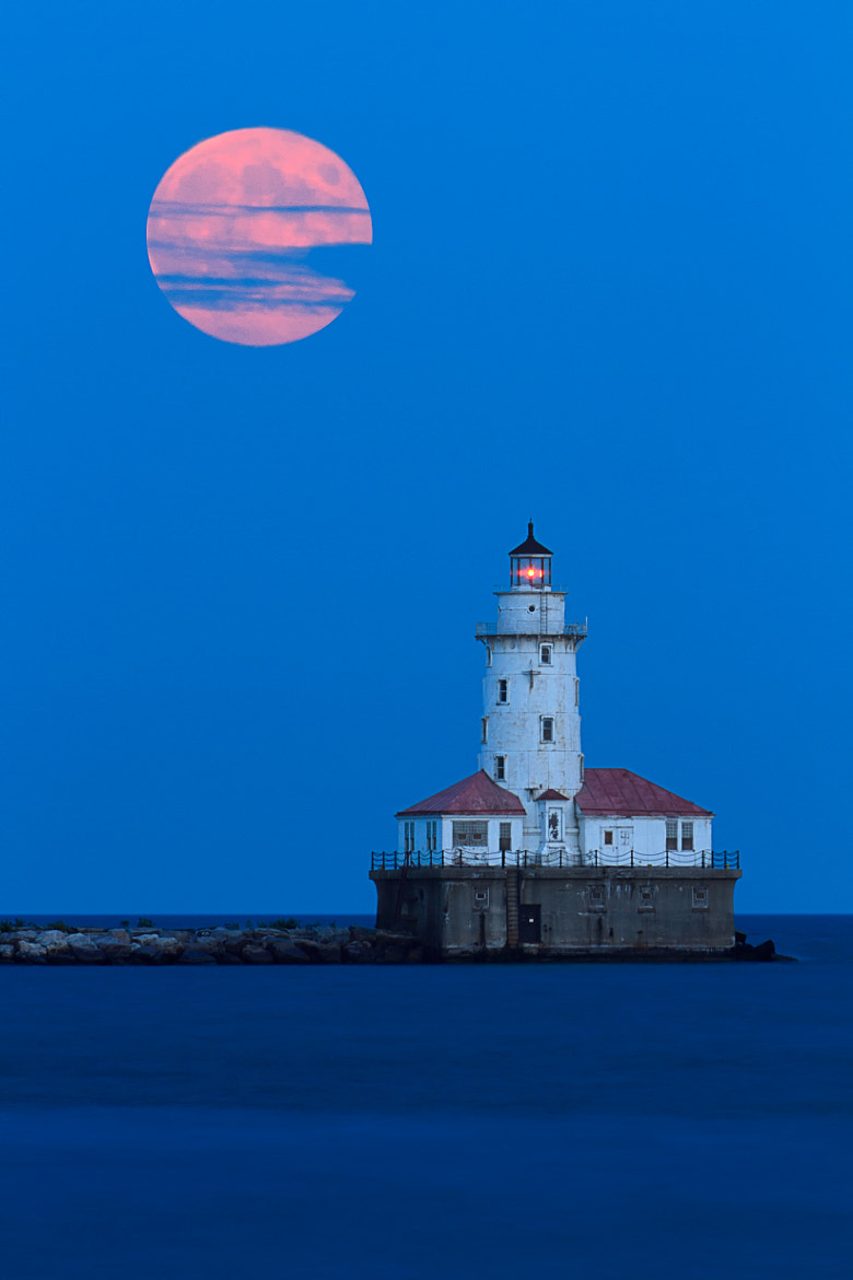 Photograph Harvest Moon Lighthouse by Katherine Gendreau on 500px