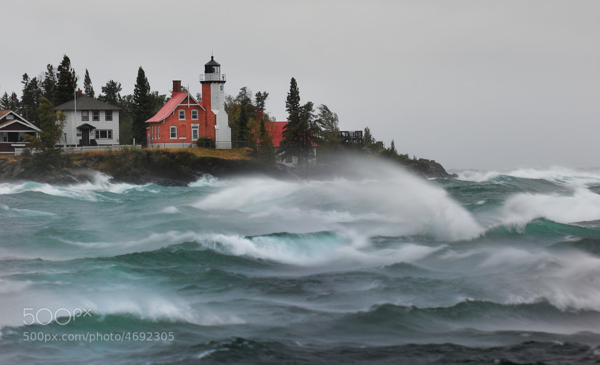 "Photograph ""September Gale""  Eagle Harbor Lightouse - Eagle Harbor, Michigan by John McCormick on 500px"