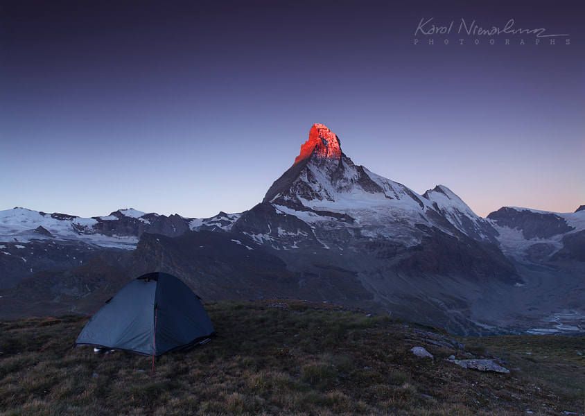 Photograph Mornings fire of Matterhorn by Karol Nienartowicz on 500px
