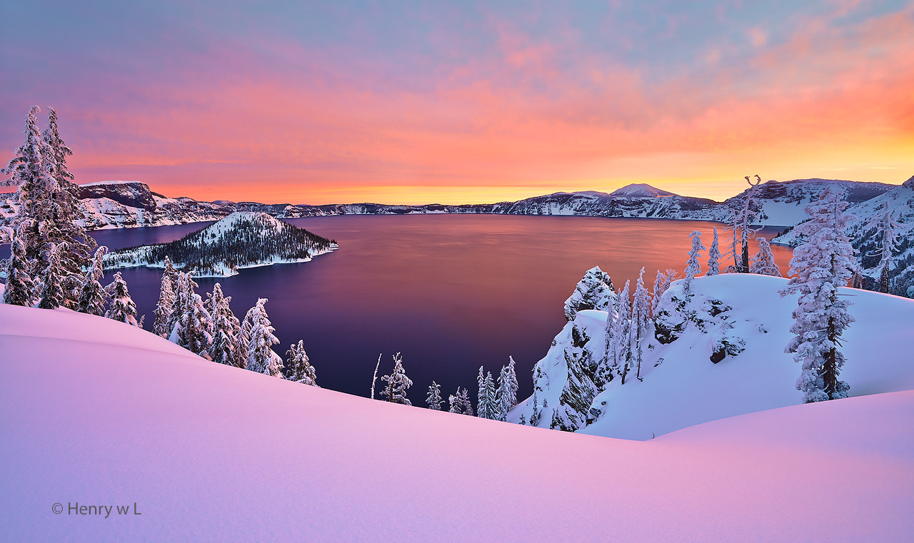 Photograph Crater Lake Sunrise by Henry Liu on 500px