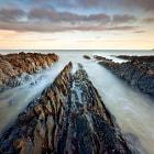 Long exposure of the Irish coast line.