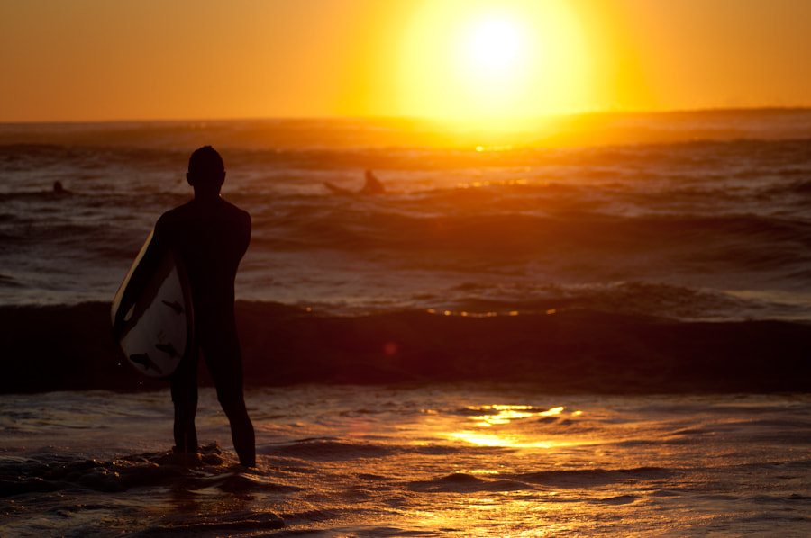 Photograph sunset surfer by Joe Bauers on 500px