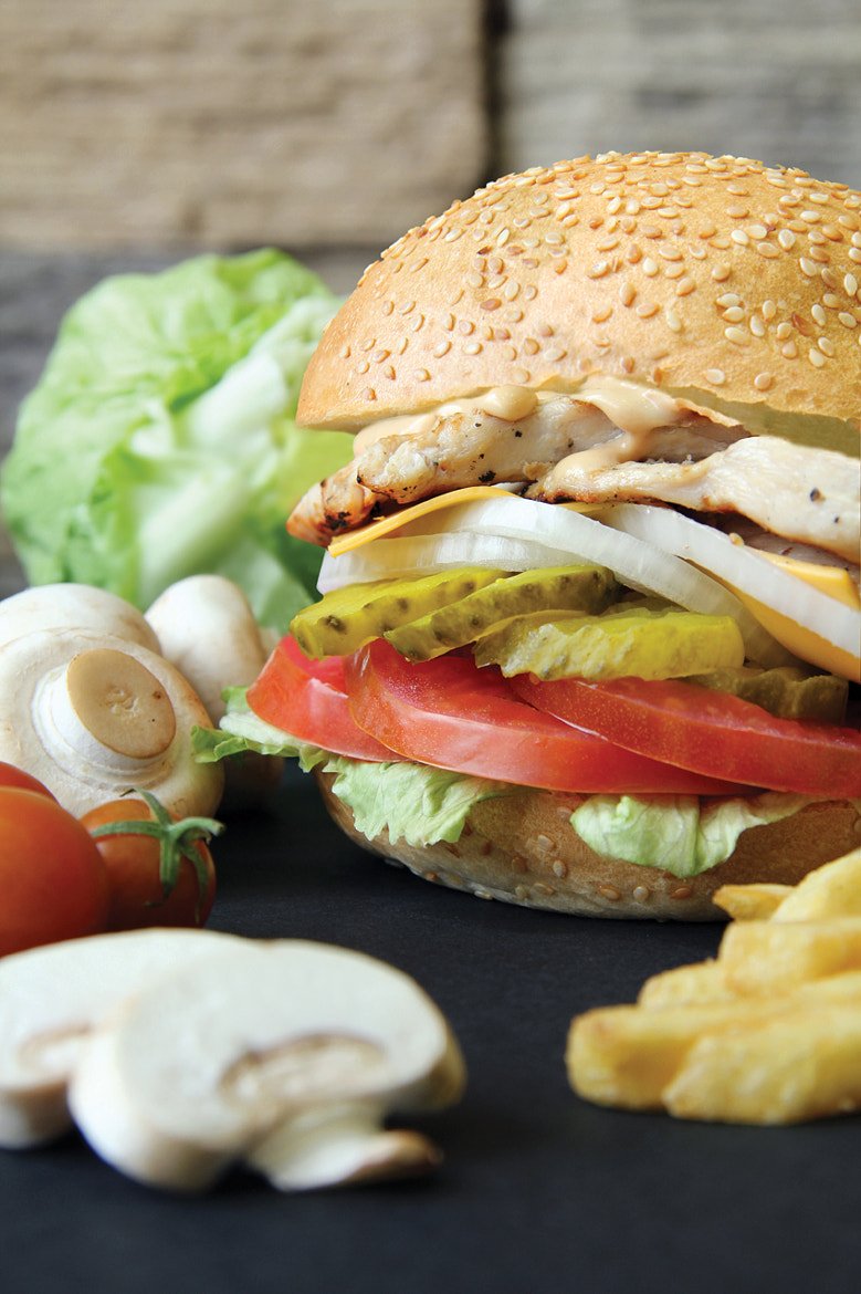 Photograph Grilled Chicken Burger by Hala Marar on 500px