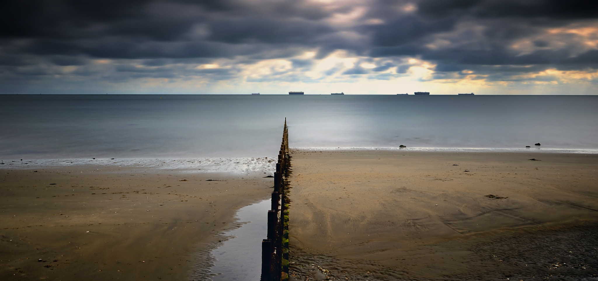 Photograph Out to sea - Sandown Bay (2) by John Barker on 500px